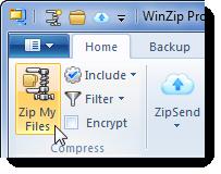 Click Zip My Files