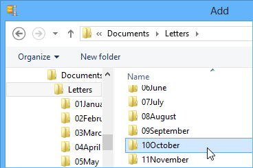 Choose the folder you want to zip