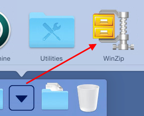 Click WinZip in Applications