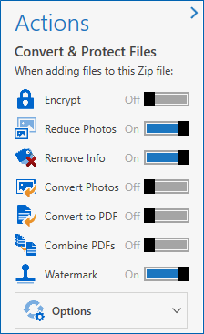 Turn convert options on if wanted