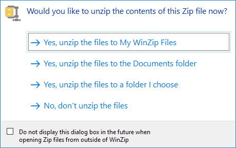 Quick examples of how to unzip with WinZip - WinZip - Knowledgebase