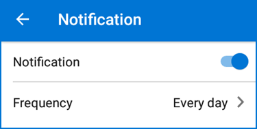 Notification setting