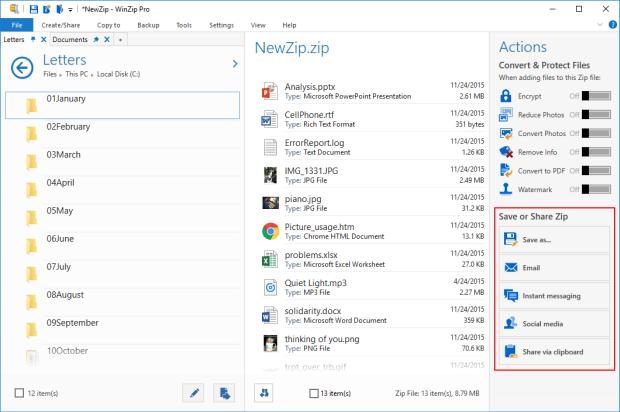 Default view - new Zip file