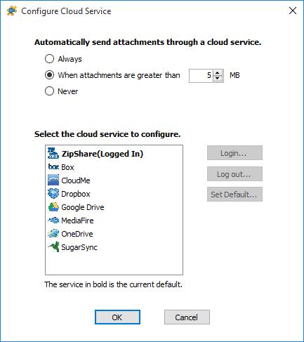 Configure Cloud Options