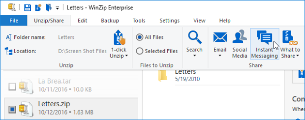 Instant Messaging Slack : Using slack with winzip knowledgebase