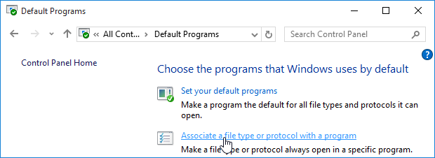 Default Programs
