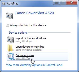 Windows Autoplay Dialog