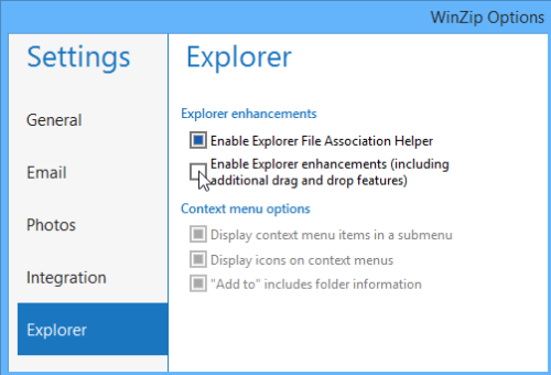 Click box to enable the shell extension