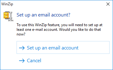Why aren't WinZip's email features working for me? - WinZip