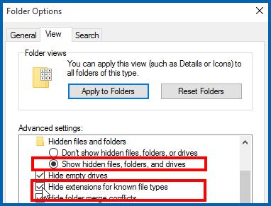 Edit your Folder Options
