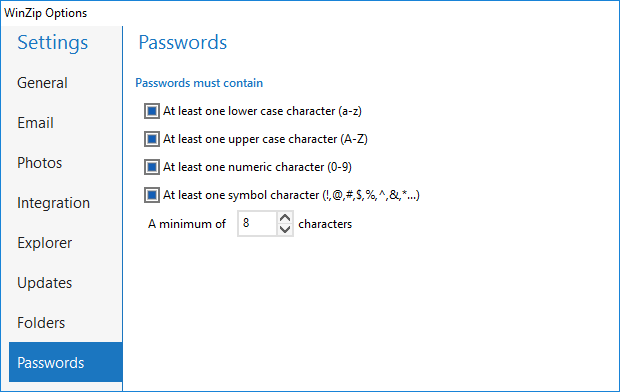 Password Policy Tab