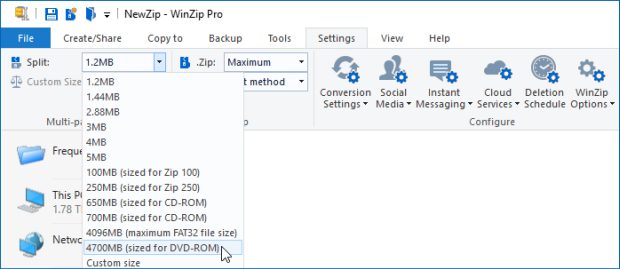 Split Zip files and how to create them - WinZip - Knowledgebase