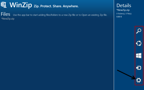 Open WinZip Settings